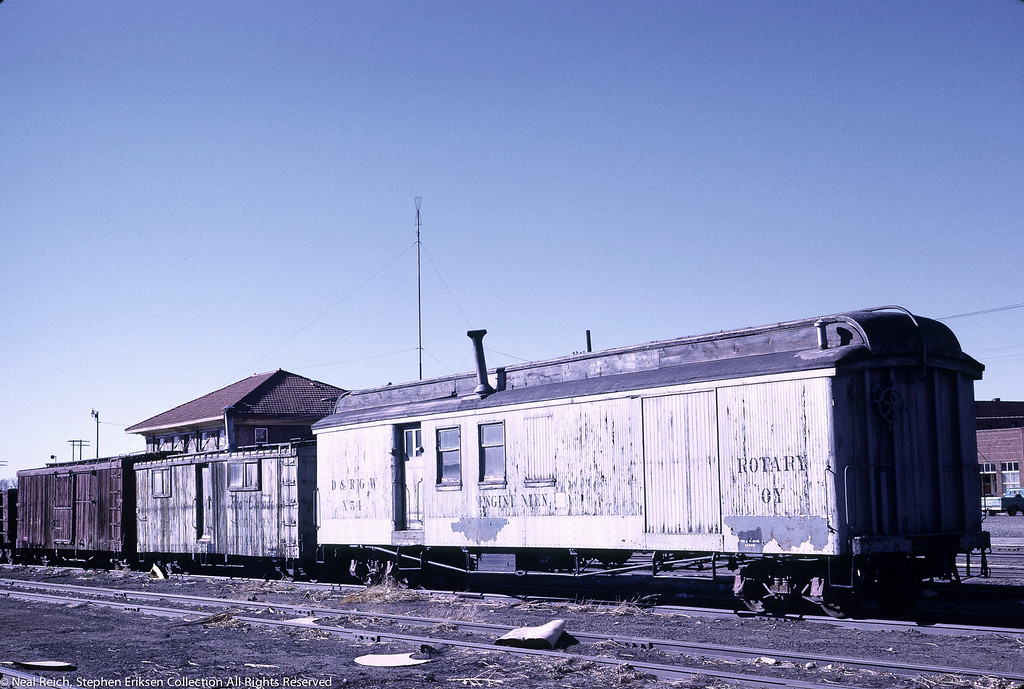 May, 1967 MOW Engine Men X54 at Alamosa, CO