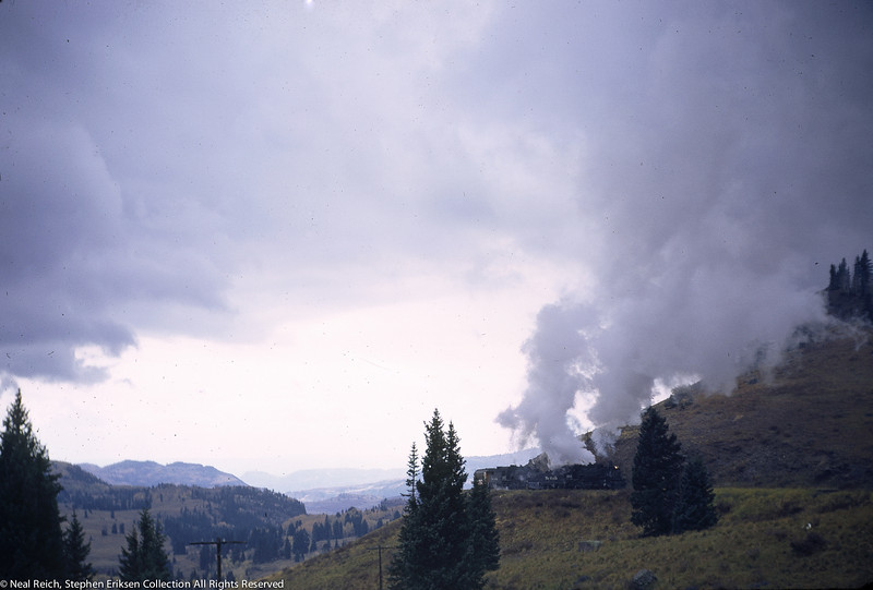 October 1, 1966 Kolor Karavan K-36 #488 and #487 approach Cumbres Colorado
