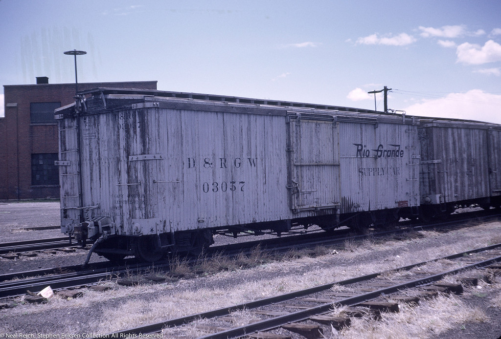 June, 1969  Supply Car 03057 in Alamosa