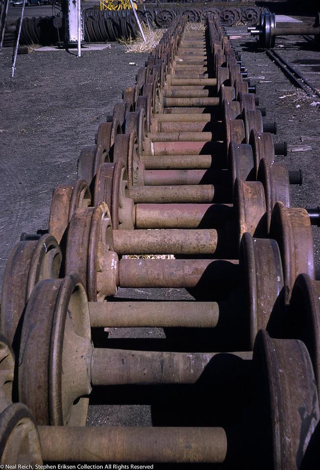 April, 1964 Wheel sets Alamosa, CO