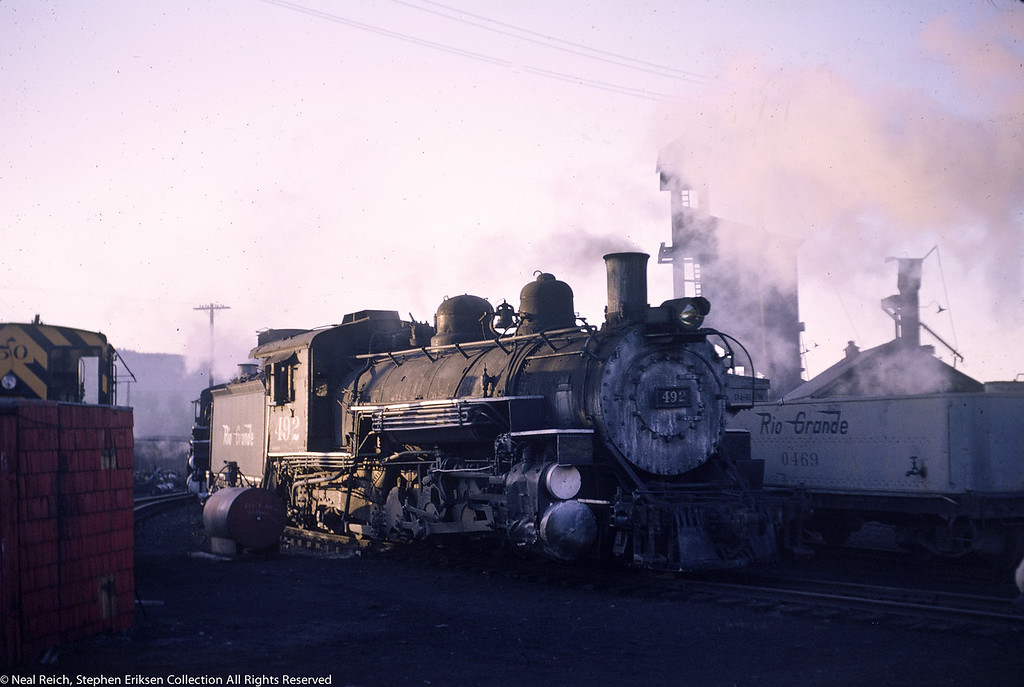May 29, 1966 K-37 #492 and Water Car #0469 in Durango, CO
