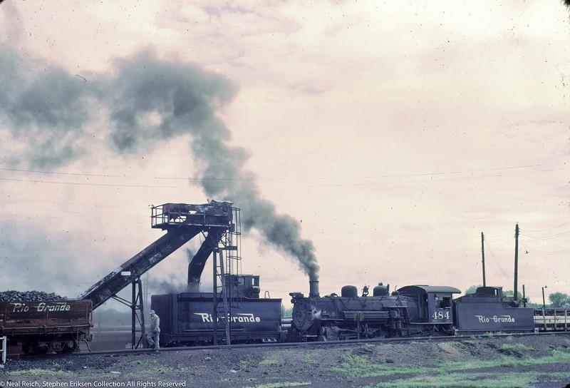 June 20, 1967 K-36 #464 and K-37 tender in Alamosa, CO