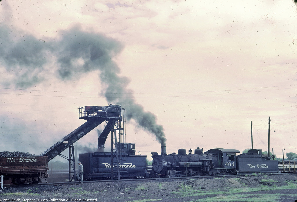 June 20, 1967 K-36 #464 and K-37 tender in Alamosa, CO