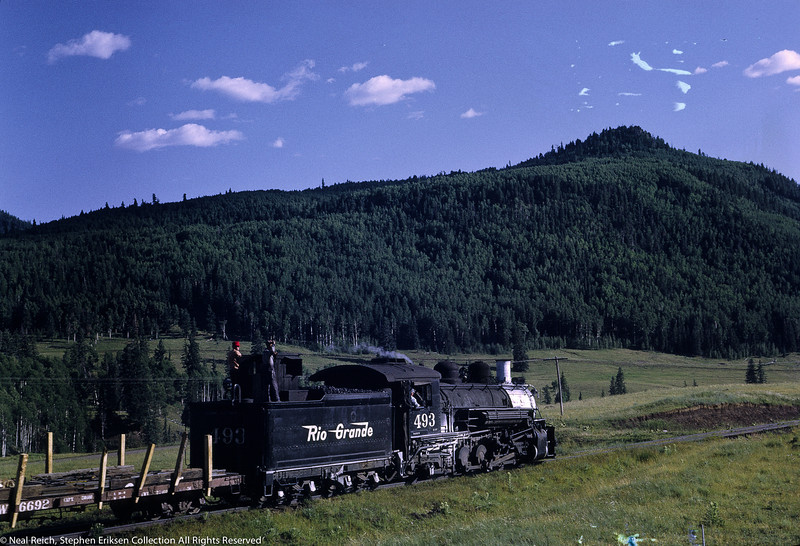 Lucky riders on he tender of #493 near Lobo Lodge, NM on July 17, 1968.