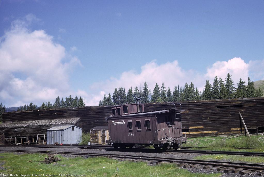 June 22, 1967 Caboose 0584 at Cumbres, CO