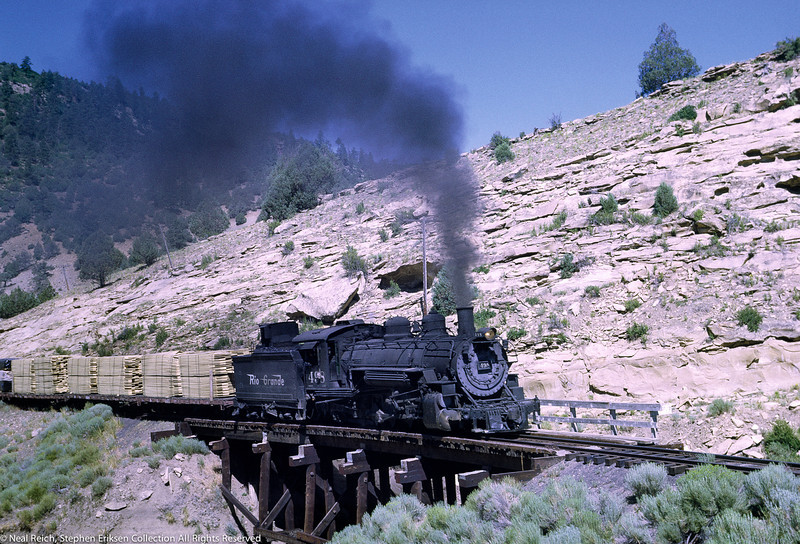 #498 crosses trestle east of Monero, NM on July 18, 1968.
