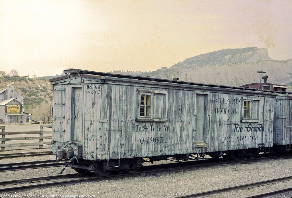 May, 1968 Section Men Bunk Car for Rotary OM in Durango, CO