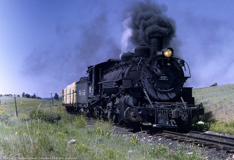 Great view of #498 west of Chama NM on July 18, 1968.