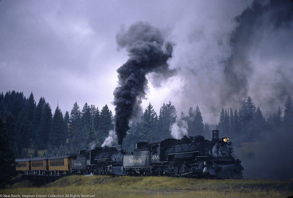 Oct 1, 1966 Kolor Karavan K-36 #488 and #487 at Los Pinos, CO