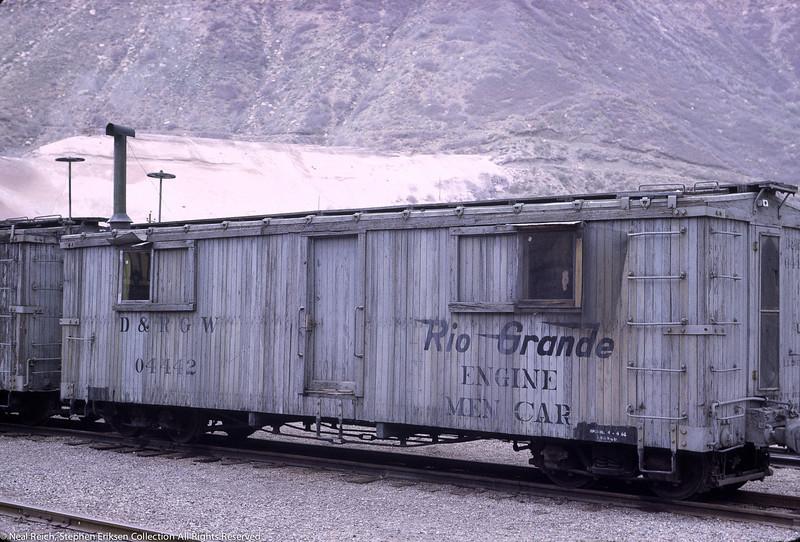 May, 1968 MOW Engine Men Car #04442 in Durango, CO