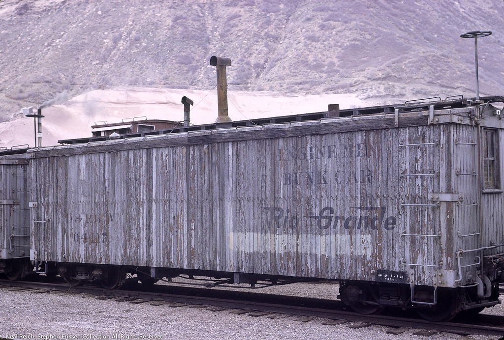 May, 1968 MOW Engine Men Bunk Car #04417 in Durango, CO