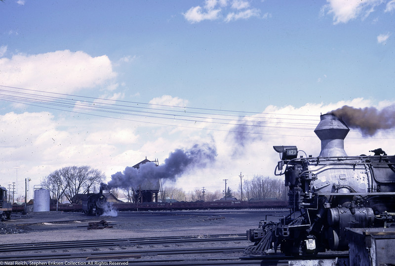 May, 1967 K-28 #473 in the foreground with another K series in the background in Alamosa, CO