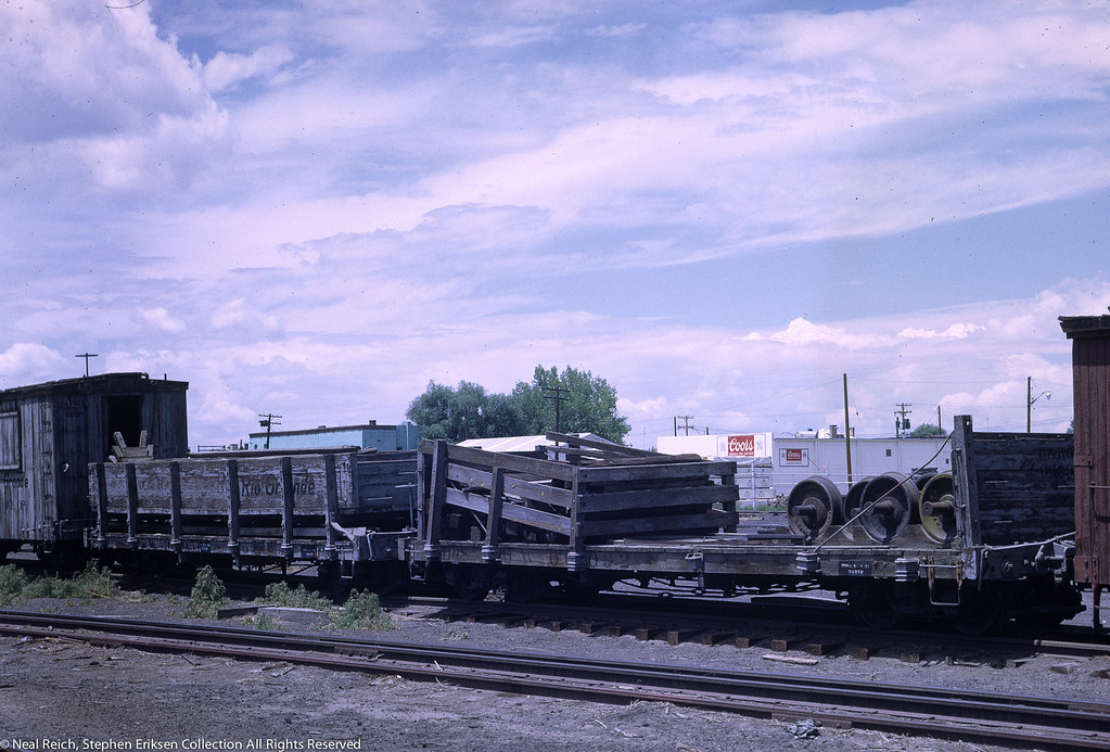 July, 1968 MOW Wheel and Tie Car 06092 in Alamosa, CO