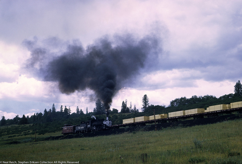 #483 headed up hill near Lobo Lodge, NM on first turn of July 18, 1968.