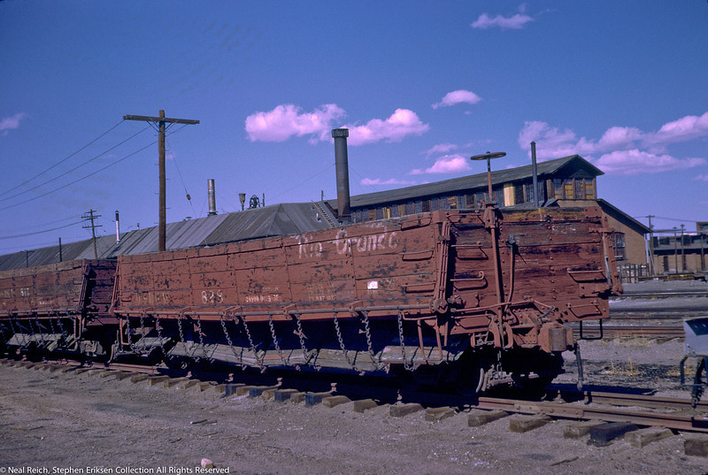June, 1969 Drop Bottom Gon #828 and #815 in Alamosa, CO