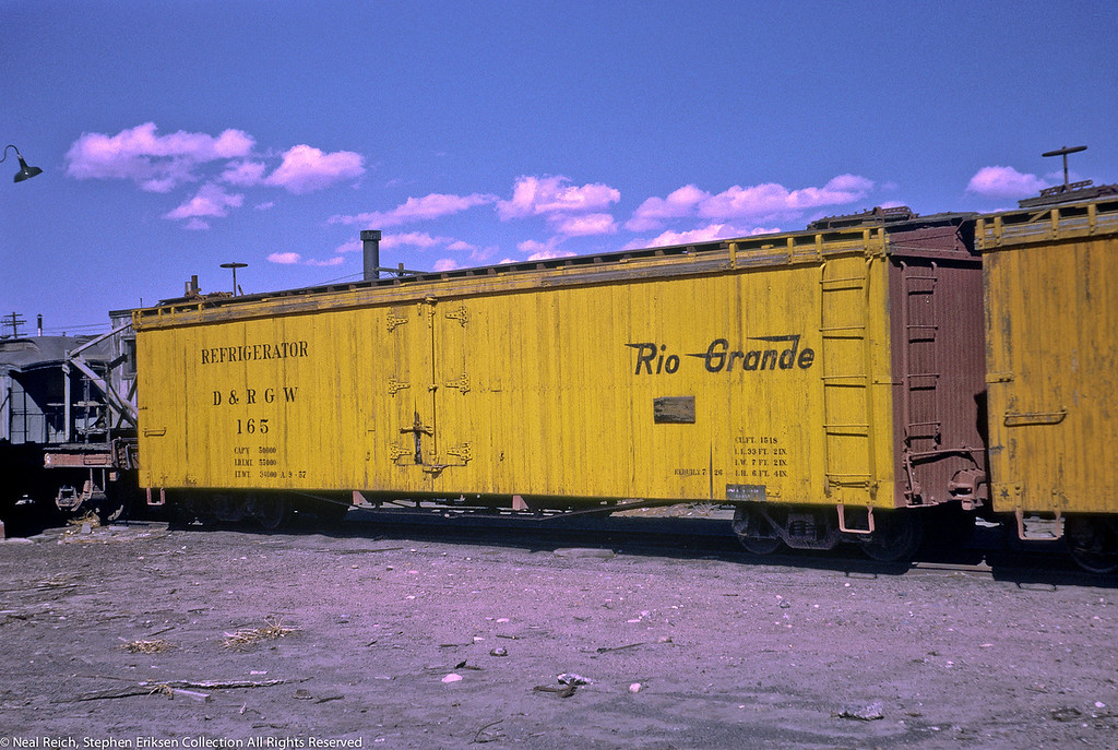April, 1969 Long Refrigerator #165 in Alamosa, CO