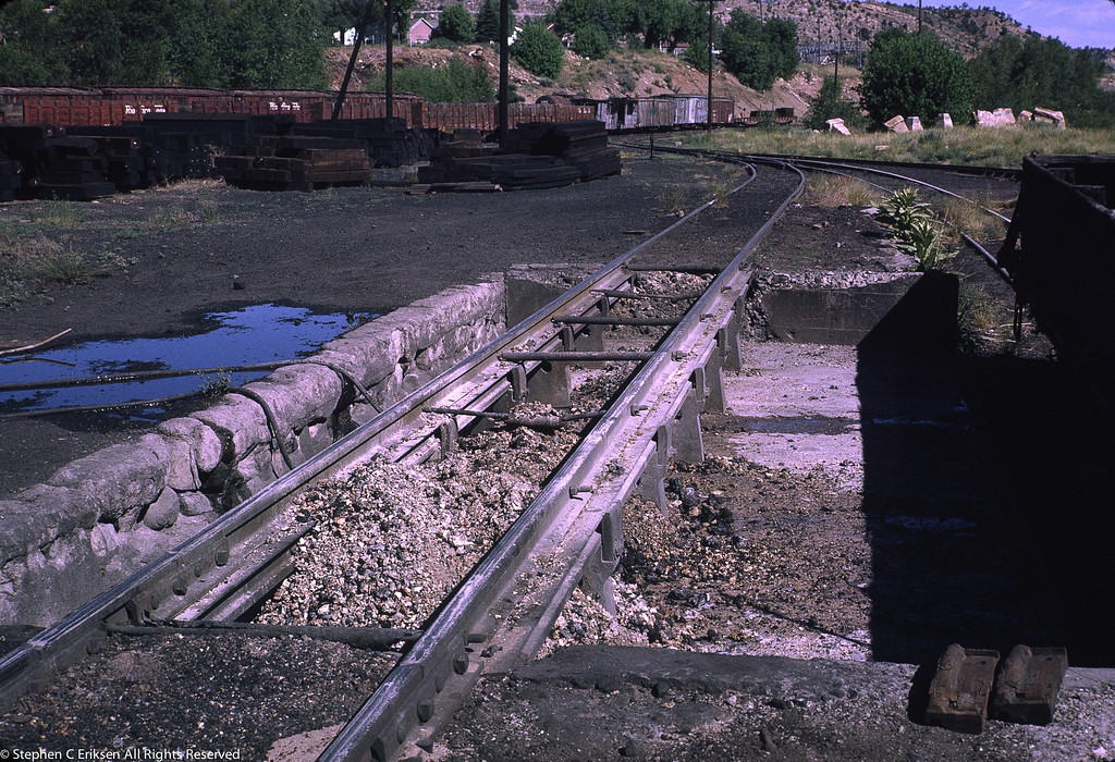 Detail view of the ashpit in Durango, July 1970.