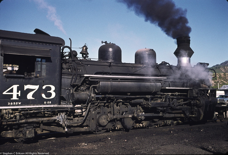 August 16, 1971 view of K-28 #473 in Durango.