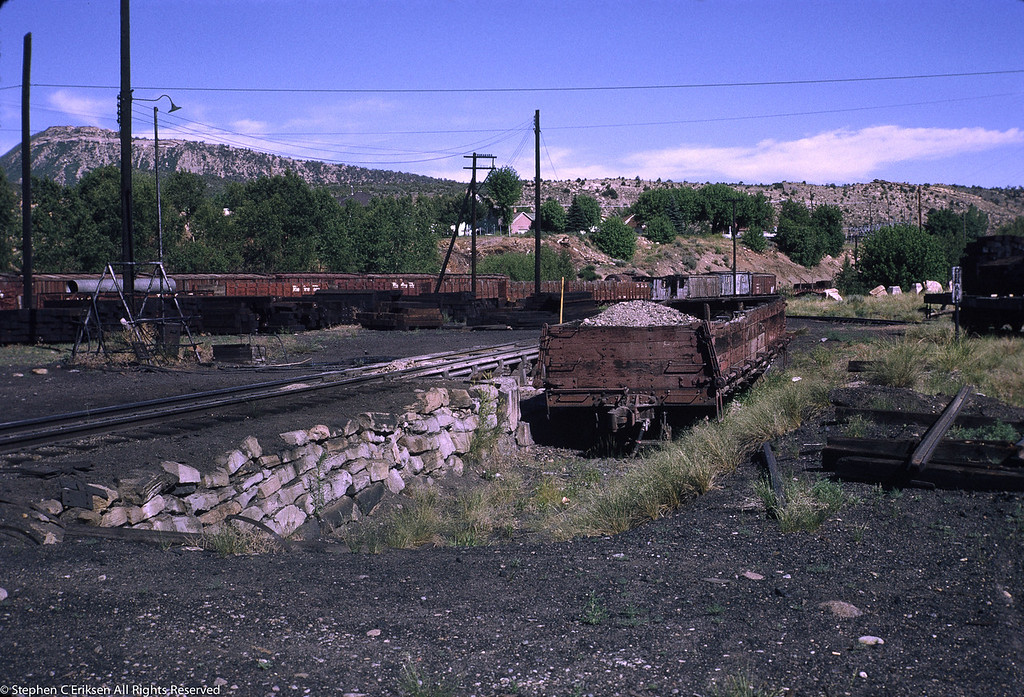 Nice view of the ashpit at Durango in July 1970.