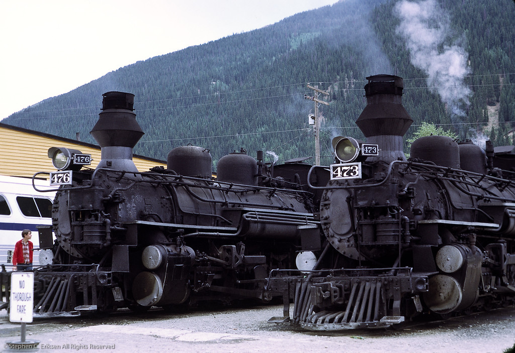 A pair of sport models on display in Silverton, July 1972