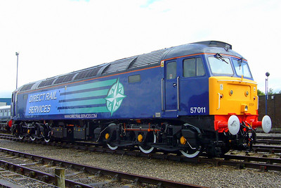 57011, the first DRS Class 57 to be given the operator's livery.