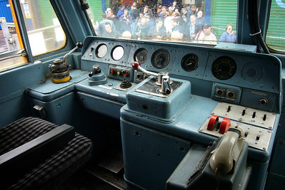 The cab of 47237, which was open to the public at the event.