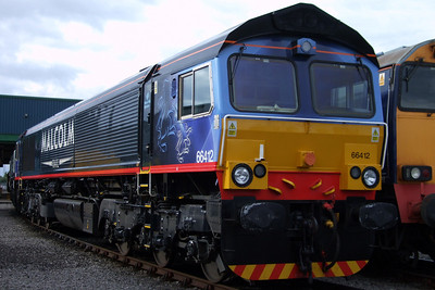 66412 in its Malcolm Rail livery, 11/07/09.