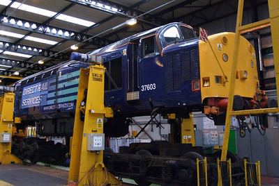 37603 on the jacks in the shed at Kingmoor, 11/07/09.