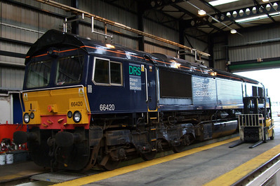 66420 on shed at Kingmoor, 11/07/09.
