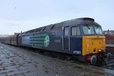47501 at Workington on a rainy day, 11/01/10.