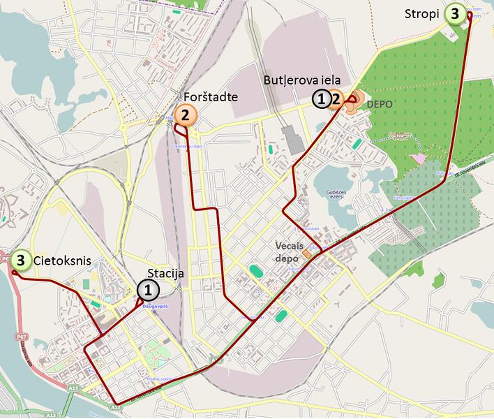 Daugavpils tram network