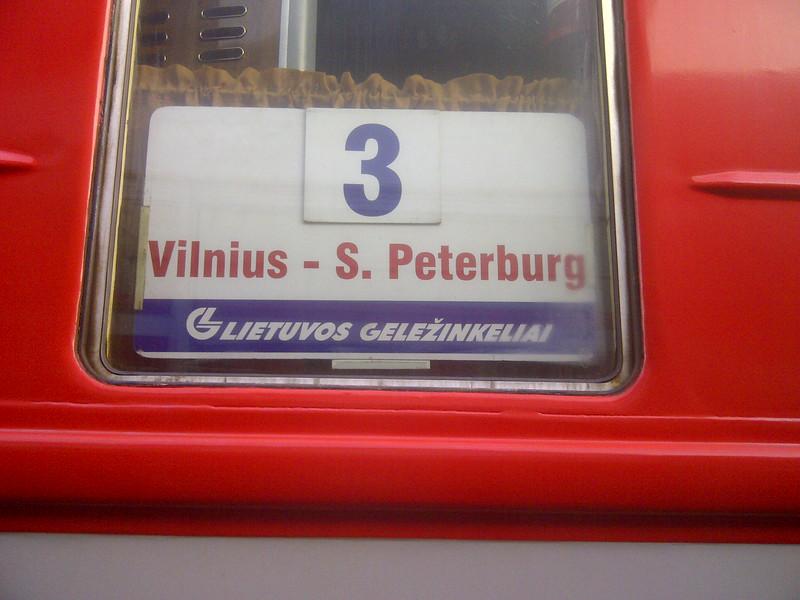 Vilnius to Daugvapils via the St Petersburg sleeper