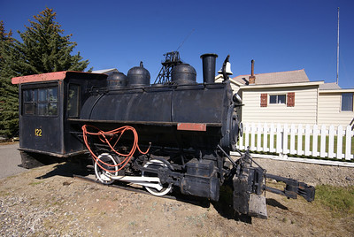 Anaconda Copper Mining Company #122 on display in Butte. MT.