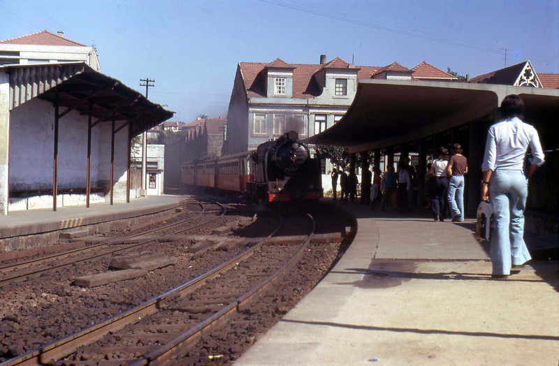 Porto suburban steam network  in August 1974