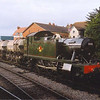 GWR Prairie tank No:5553 at Minehead on the goods train on 6th September during the 2002 Autumn Steam Gala