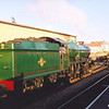 GWR King class 4-6-0 No:6024 'King Edward 1' at Minehead on 6th September during the 2002 Autumn Steam Gala