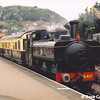 GWR pannier tank No:6412 at Minehead with the autocoach on 6th September during the 2002 Autumn Steam Gala