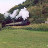GWR 0-6-2T No:5637 passing Castle Hill on 2nd October during the 2003 Autumn Steam Gala