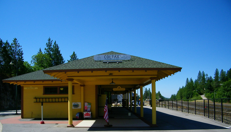 Colfax, CA, Amtrak Station, gift shop, Chamber of Commerce, and rail museum.  Built at a different location in the early 20th century and moved to its current site.