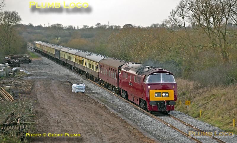 "D1015 ""Western Champion"", Waddesdon Manor Station, 1Z15, 14th December 2013"