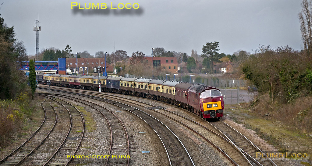 "D1015 ""Western Champion"", Princes Risborough, 1Z15, 14th December 2013"