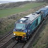 68017 Hornet growls past Buddin Farm on Tuesday 29th December 2015