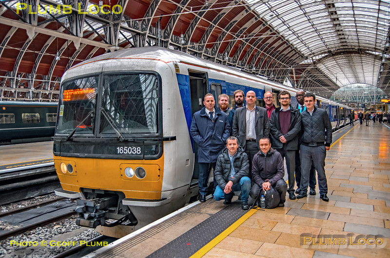 165 038, Chiltern Staff Group, Paddington, 2M29, 7th December 2018