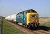 55022 Approaches North Blyth on the 15.03 Ex Lynemouth Trip on Thurs,28-4-2011.