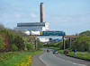 Leaving Lynemouth,<br /> with Alcan power station over shadowing 55022<br /> 16/4/2011