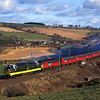 D9000 + 47757 pass Houndwood on 5Z26 Tweedmouth to Glasgow works test train<br /> 9/11/1996