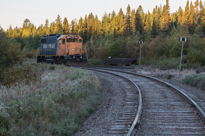 GP38-2 1804 at corner of the wye.