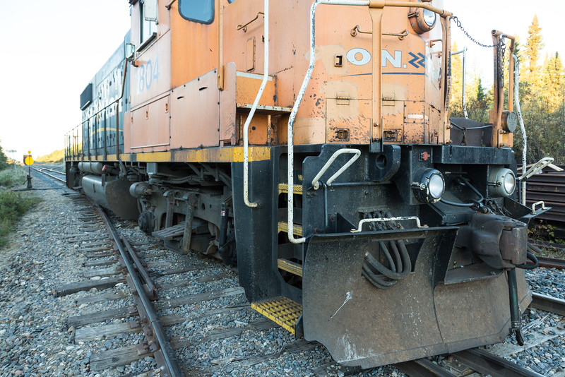 GP38-2 1804 short end at corner of the wye.