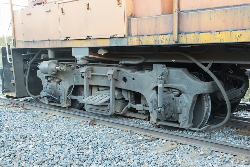 Short end truck derailed.