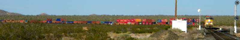 Another UP stack job, also westbound and coming in from the northern route as it heads for the junction at Daggett.